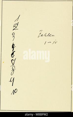 Die Schrift bei Geisteskrankheiten; eine Atlas mit 81 Handschriftproben (1903) (14777261392) - Stock Photo