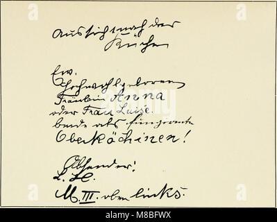 Die Schrift bei Geisteskrankheiten; eine Atlas mit 81 Handschriftproben (1903) (14797576123) - Stock Photo