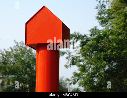 icon 'red house' from a pipe - Stock Photo