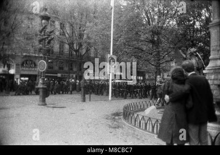 Philippe Gras / Le Pictorium -  May 68 -  1968  -  France / Ile-de-France (region) / Paris  -  Clashes between protesters - Stock Photo