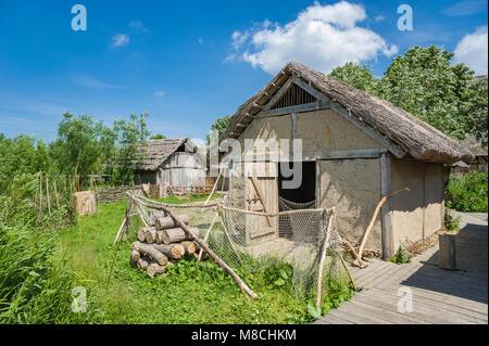 Wallmuseum, slavic village, Oldenburg in Holstein, Baltic Sea, Schleswig-Holstein, Germany, Europe - Stock Photo