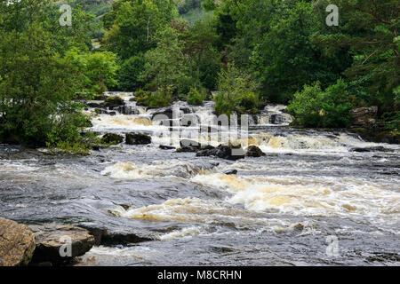 Falls of Dochart on the River Dochart at Killin in Perthshire, Scotland, UK - Stock Photo