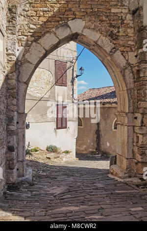old town of Motovun, Istria, Croatia - Stock Photo