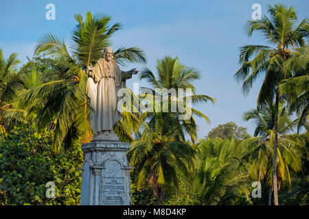 Jesus statue Sé Cathedral Old Goa India - Stock Photo