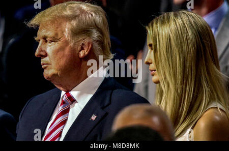 Cleveland, Ohio, USA, 20th July, 2016  Donald Trump and Ivanka Trump stand together during the Republican National - Stock Photo