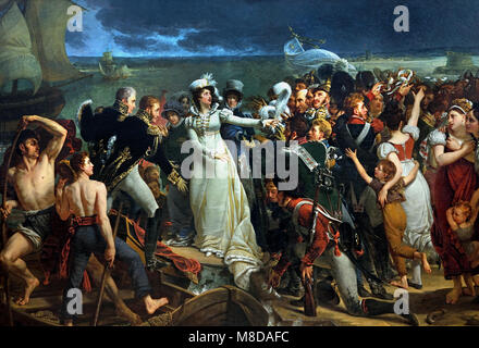 Embarkation of the Duchess of Angoulême in Pauillac, 1818, Antoine-Jean GROS, 1771 - 1835, France, French, - Stock Photo