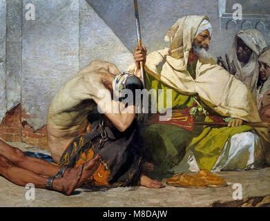 Moroccan prisoners  1875 Jean Joseph Benjamin CONSTANT - BENJAMIN CONSTANT 1845 - 1902 France, French, - Stock Photo