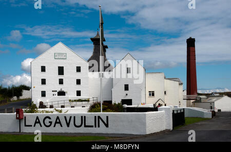 Lagavulin Distillery, Islay - Stock Photo