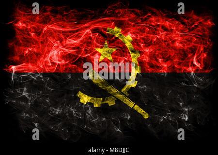 Angola smoke flag - Stock Photo