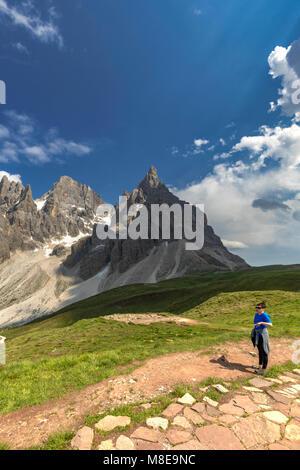 Passo Rolle, San Martino di Castrozza Village, Trento district, Trentino Alto Adige, Italy - Stock Photo