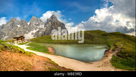 Passo Rolle, San Martino di Castrozza Village, Trento district, Trentino Alto Adige, Italy - Stock Photo