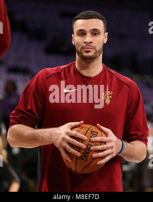Los Angeles, CA, USA. 11th Mar, 2018. Cleveland Cavaliers forward Larry Nance Jr. (22) before the Cleveland Cavaliers - Stock Photo