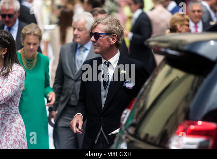16 March 2018, Peru, Lima: Prince Ernst August of Hanover arrives at the old town in Lima for the wedding ceremony - Stock Photo