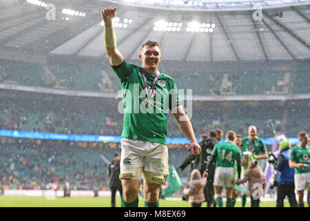 London, UK, 17 Mar 2018.  Peter O'mahony England V Ireland England V Ireland, Nat West 6 Nations Twickenham, London, - Stock Photo