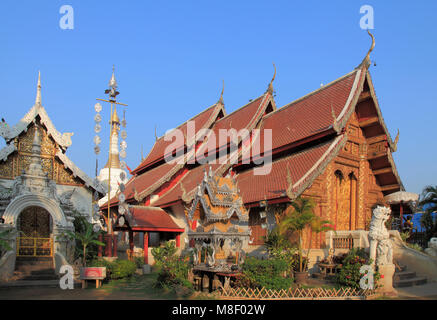 Thailand, Chiang Mai, Wat Mahawan, buddhist temple, - Stock Photo
