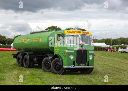A restored Leyland Octopus tanker formerly owned by the Taunton Cider Company at the 2017 Norton Fitzwarren Steam - Stock Photo