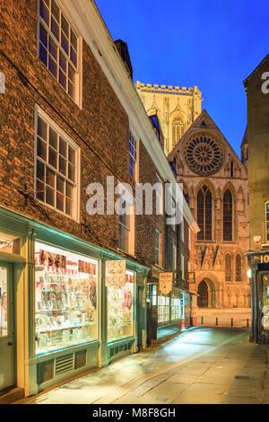 York Yorkshire England at twilight - Stock Photo