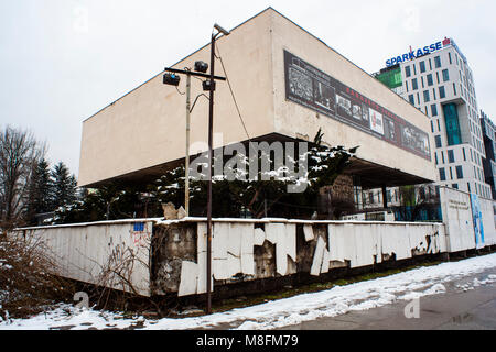 SARAJEVO, BOSNIA-ERZEGOVINA - FEBRUARY, 16: View of the Historical Museum of BH on February 16, 2018 - Stock Photo