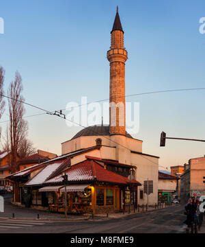 SARAJEVO, BOSNIA-ERZEGOVINA - FEBRUARY, 16: View of the Cekrekcijina Dzamija Mosque on February 16, 2018 - Stock Photo