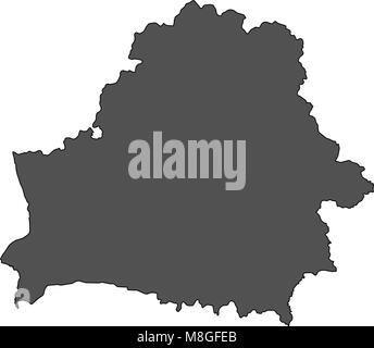 Map of Belarus - Stock Photo