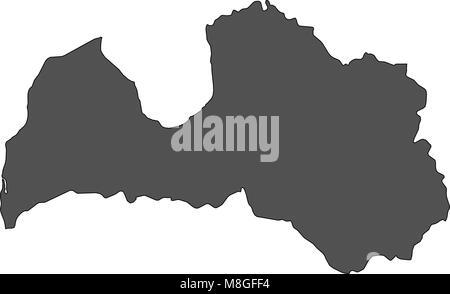 Map of Latvia - Stock Photo