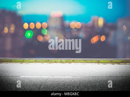 Night city lights bokeh - Stock Photo