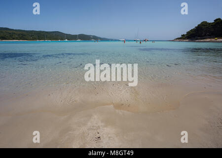 Famous beach Saharun on island Dugi Otok in Dalmatia, Croatia - Stock Photo
