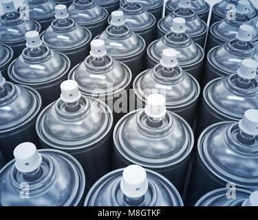 spray cans - Stock Photo