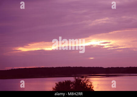sunrise in the sea of incredible colors . - Stock Photo