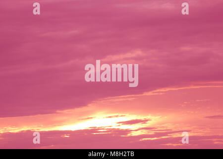 pink sunrise in the sea of incredible colors . - Stock Photo