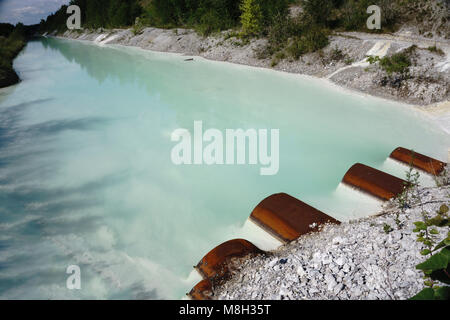 pipe for discharge of environmental problems of the enterprises for water pollution - Stock Photo