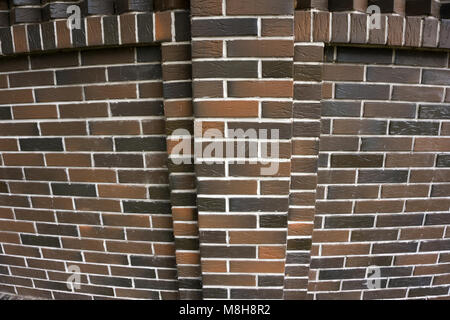 Red And Black Brick Wall Texture Grunge Background, Loft Interior Design Idea. Old Industrial Building With Uneven - Stock Photo