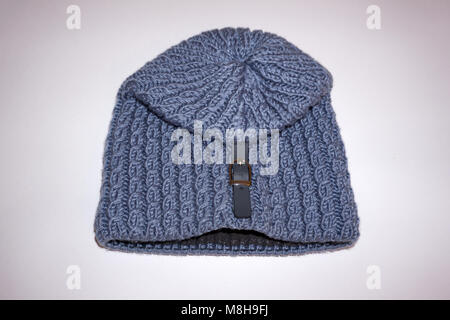 Wool hat isolated on white background - Stock Photo