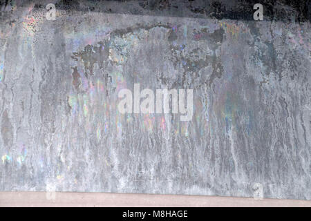 Window with very dirty and dusty glass in daylight, windows damaged by uv light - Stock Photo