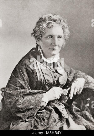 Harriet Elisabeth Beecher Stowe, 1811 – 1896.  American abolitionist and author.  From The International Library - Stock Photo