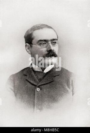 Joseph Rudyard Kipling, 1865 – 1936.  English journalist, short-story writer, poet, and novelist.  From The International - Stock Photo