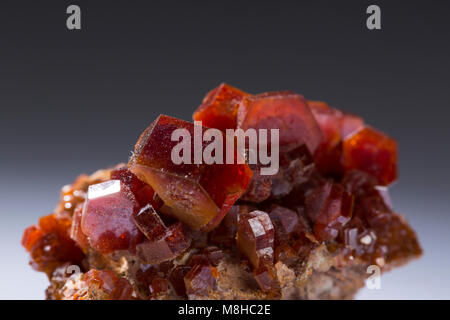 vanadinite mineral stone specimens rock geology minerals. - Stock Photo