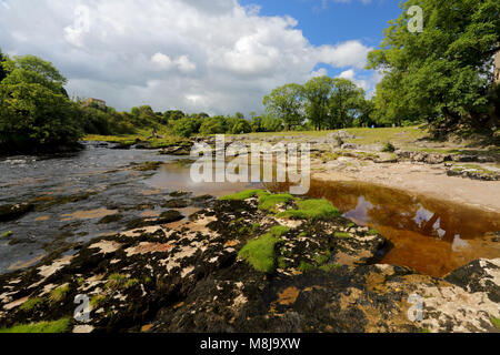 The beautiful River Wharfe in Wharfedale near Grassington, North Yorkshire, Yorkshire Dales National Park, England, - Stock Photo