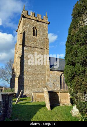 Church of St Aldhelm & St Edburga, Broadway, South Somerset - Stock Photo