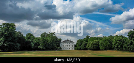 Marble Hill House is a beautiful Palladian villa is set in 66 acres of outstanding riverside parkland near Richmond - Stock Photo