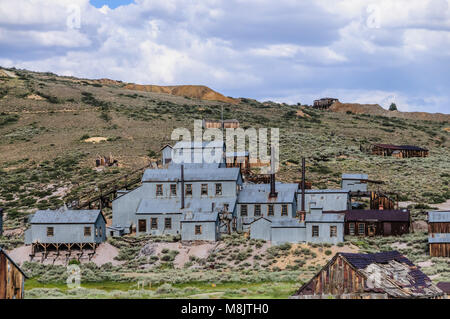 The Californian Ghost Town of Bodie - Stock Photo