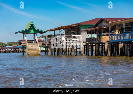 Brunei Darussalam Bandar Seri  March 17, 2018 BegawanWater taxis on the Brunei river, in and around Kampong Ayer, - Stock Photo