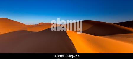 Erg Chebbi. Sand dunes. Morocco - Stock Photo