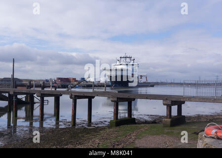 Grand Canyon moored in Blyth - Stock Photo