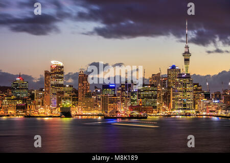 The view of Auckland City from Davenport, New Zealand. - Stock Photo