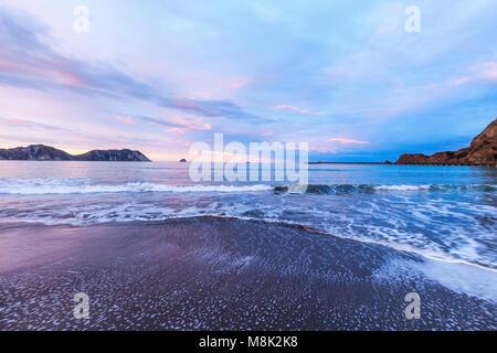 Tolaga Bay and New Zealand's Longest Pier - Stock Photo