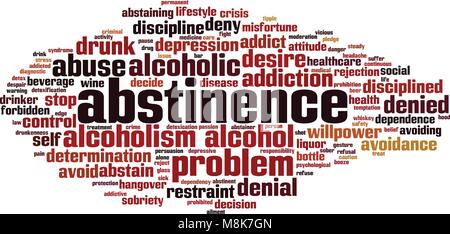 Abstinence word cloud concept. Vector illustration - Stock Photo