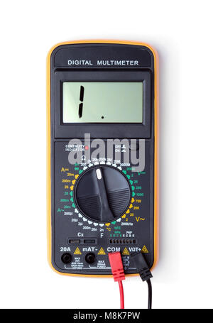 Digital multimeter isolated on white background - Stock Photo