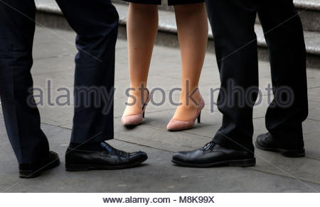 Embargoed to 0001 Monday March 19 File photo dated 08/04/15 of office workers, as according to Channel 4's Dispatches, - Stock Photo