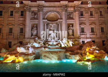 Rome, Famous Trevi Fountain (Fontana Di Trevi) - Stock Photo
